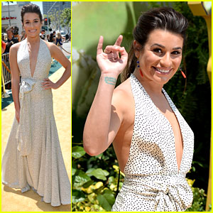 Lea Michele Walks the Yellow Brick Road at 'Legends of Oz' Premiere!