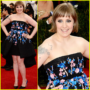 Lena Dunham Goes Strapless Chic at the Met Ball 2014