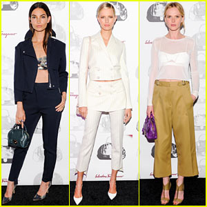Lily Aldridge & Karolina Kurkova Are VIPs at Ferragamo Dinner