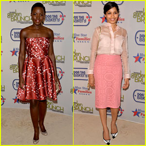 Lupita Nyong'o & Freida Pinto Dress Perfectly for the Garden Brunch!