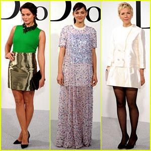 Margot Robbie & Marion Cotillard Check Out Dior's Designs!