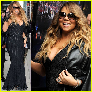 Mariah Carey Rocks Form-Fitting Dress for 'Letterman' Visit!