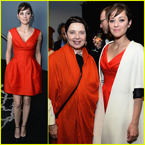 Marion Cotillard Switches Into Bright Mini Dress for 'The Immigrant' After Party!