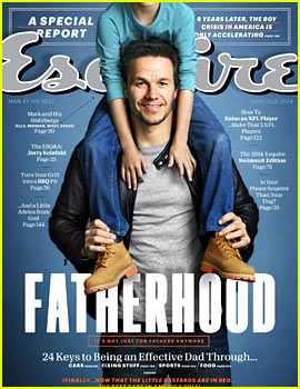 Mark Wahlberg's Kids Join Him for 'Esquire' June/July 2014 Cover Feature!