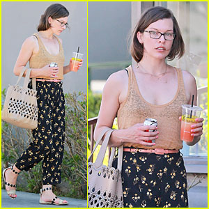 Milla Jovovich Beats the Heat with a Lemonade!