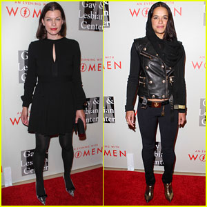 Milla Jovovich Sings & Michelle Rodriguez DJs at 'Evening with Women' Event (Videos)