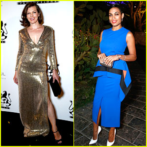 Milla Jovovich & Rosario Dawson Know How to Dress in Cannes!