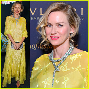 Naomi Watts Wears a Gorgeous Jeweled Snake Necklace to Bulgari Exhibit Launch!