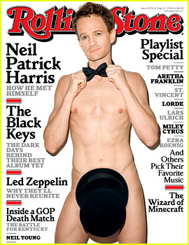 Neil Patrick Harris Goes Completely Naked, Covers His Penis with a Top Hat for 'Rolling Stone'!