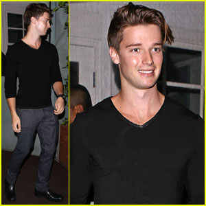 Patrick Schwarzenegger Dines with Friends After Busy Week Opening Blaze Pizza!