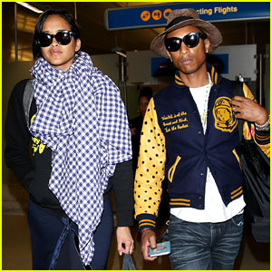 Pharrell Williams & Wife Helen Lasichanh Look Oh So Serious