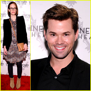 Sarah Paulson & Andrew Rannells Support New Theater in NYC