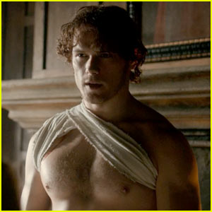 Shirtless Sam Heughan Heats Up 'Outlander' Trailer for Starz