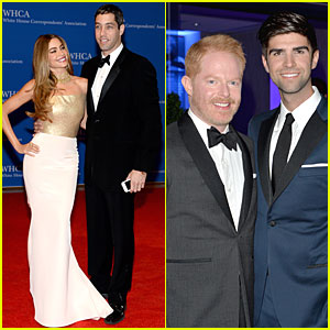 Sofia Vergara is the Golden Girl for Fiance Nick Loeb at White House Correspondents' Dinner 2014