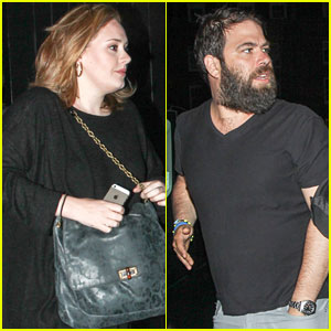 Adele Makes Rare Appearance for Night Out with Partner Simon Konecki!