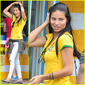 Adriana Lima Kicks a Soccer Ball To Promote World Cup - Watch Now!
