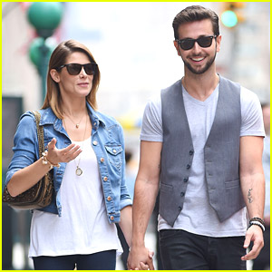 Paul Khoury Walks Ashley Greene To A Meeting In New York City