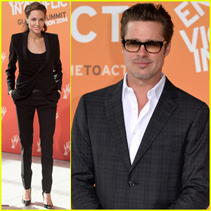 Brad Pitt Supports Fiance Angelina Jolie at Day Three of Global Summit To End Sexual Violence!