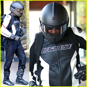 Bradley Cooper Goes Incognito in His Motorcycle Gear