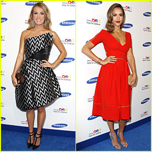 Carrie Underwood & Jessica Alba Bring Hope for Children in NYC!