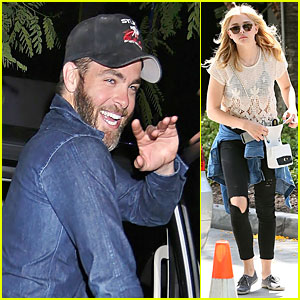 Chris Pine & Chloe Moretz Add Star Power to Kings Playoff Game!
