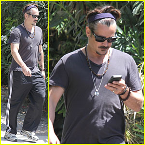 Colin Farrell Sports Gray Hair in Venice