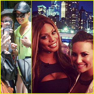Demi Lovato & Laverne Cox Take a Selfie During NYC Pride!