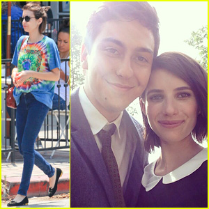 Emma Roberts Starts Shooting New Film 'Ashby' with Nat Wolff!