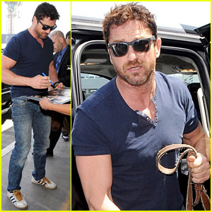 Gerard Butler Jets Out of Town After Quick Trip to LA
