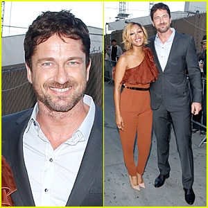 Gerard Butler & Meagan Good Are Picture Perfect at 'Jimmy Kimmel Live'!