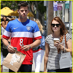 Holland Roden & Max Carver Buddy Up for Shopping Trip!