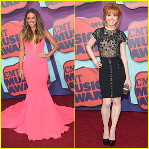 Jana Kramer Goes Pretty in Pink at CMT Music Awards with Lindsey Stirling