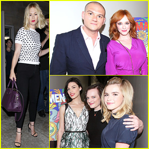 January Jones & Christina Hendricks Join Cast of 'Mad Men' at Deadline Screening!