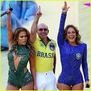 Jennifer Lopez Performs at the World Cup 2014 Opening Ceremony with Pitbull & Claudia Leitte - Watch Now!