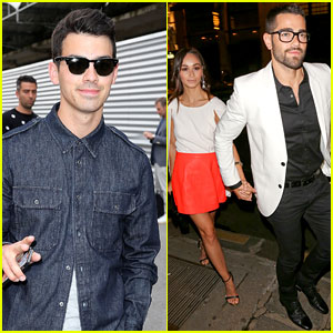 Joe Jonas & Jesse Metcalfe Do Dinner with Friends During Paris Fashion Week!