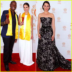 Jordana Brewster & Tyrese Accept Best Global Movie Award for 'Fast & Furious 6' at Huading Awards 2014!
