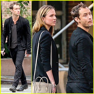 Jude Law & Rumored Former Flame Alicia Rountree Spend Time Together in NYC!