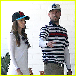 Justin Timberlake & Jessica Biel Spend Father's Day Golfing!