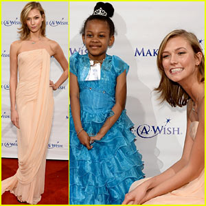 Karlie Kloss Meets with Wish Kids at the Make-a-Wish Annual Gala