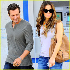 Kate Beckinsale & Len Wiseman Are a Cute Couple in Santa Monica!