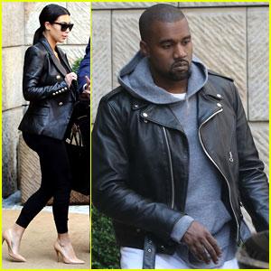 Kim Kardashian & Kanye West Jet Out of Prague After Friend's Wedding!