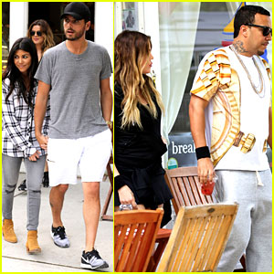 Kourtney & Khloe Kardashian Double Date with Their Men!