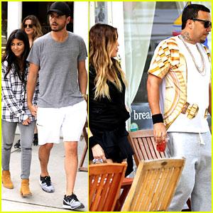Kardashian baby bump 2014 kourtney amp khloe kardashian double date