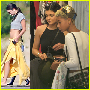 Kendall Jenner Hits the Water with the Family While Kylie Shops with Willow Smith