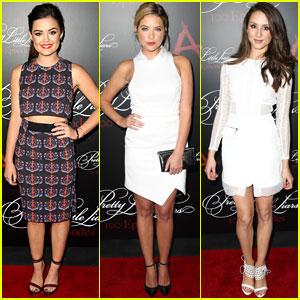 Lucy Hale & Ashley Benson Celebrate 'Pretty Little Liars' 100th Episode with Entire Cast!