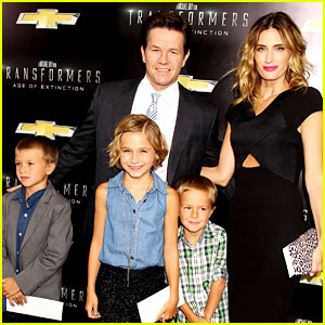 Mark Wahlberg Brings His Family to 'Transformers' NY Premiere!