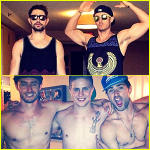 Matt Dallas & Fiance Blue Hamilton Get Shirtless & Go to Disneyland!