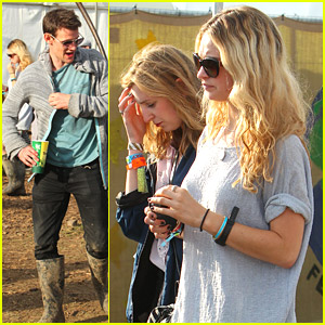 Matt Smith Joins Rumored Girlfriend Lily James at Glastonbury Festival 2014; Tries To Avoid Being Pictured With Her