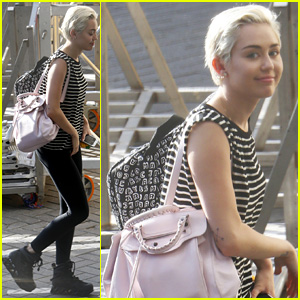 Miley Cyrus Arrives in Amsterdam Ahead of Last 'Bangerz' European Tour Stop!