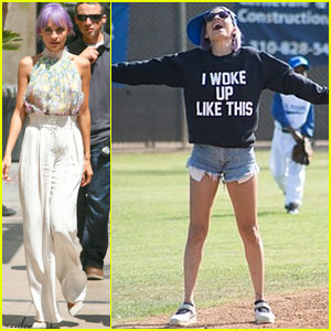 Nicole Richie Shoots an Episode of 'Candidly Nicole' at The Grove!